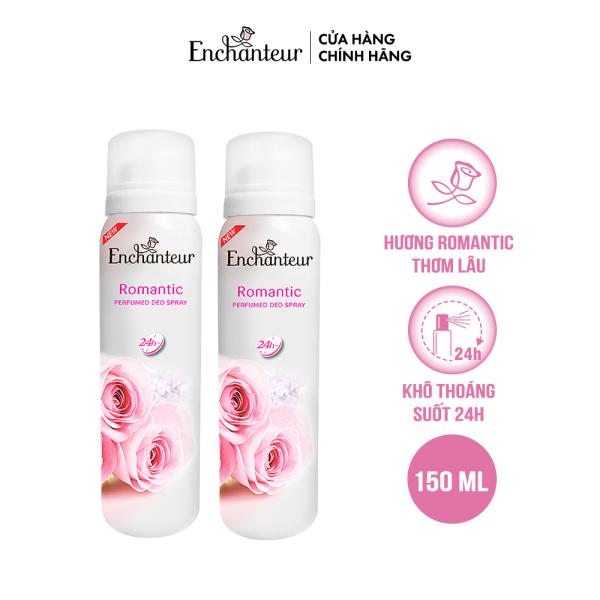 [Voucher 20k][Freeship] Combo 2 Xịt khử mùi nước hoa Enchanteur Romantic 150ml/Chai