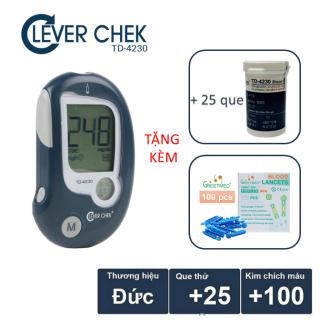 Máy đo đường huyết Clever Chek TD4230 tặng 25 que thử tiểu đường và 100 kim chích máu thumbnail