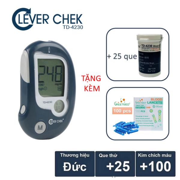 Nơi bán Máy đo đường huyết Clever Chek TD4230 tặng 25 que thử tiểu đường và 100 kim chích máu
