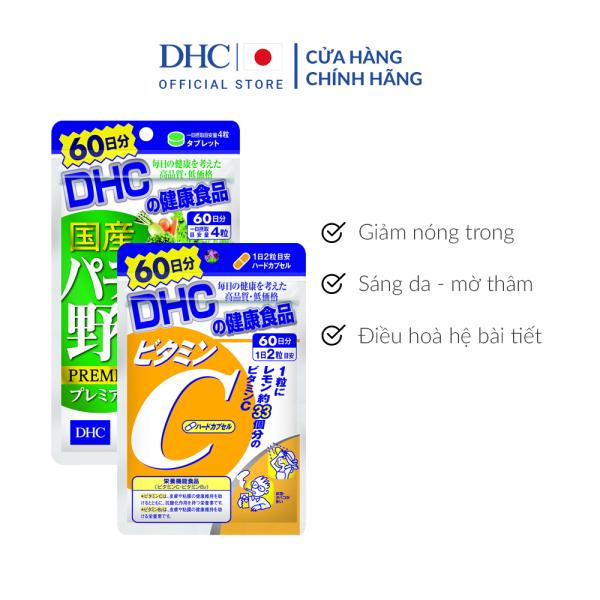 Combo Viên uống Giảm Nóng Trong - Sáng Da 60 Ngày (Rau Củ & VitaminC)