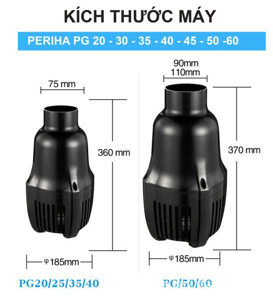 Bơm Periha PG 25 - 25000l/h (50w) - Bơm tạt hồ cá koi - Bơm tiết kiệm điện - Bơm công suất lớn - Điều chỉnh lưu lượng nước- Bơm đặt chìm - Bơm tích hợp cảm biến chống cạn - Cá Koi hoàng Long