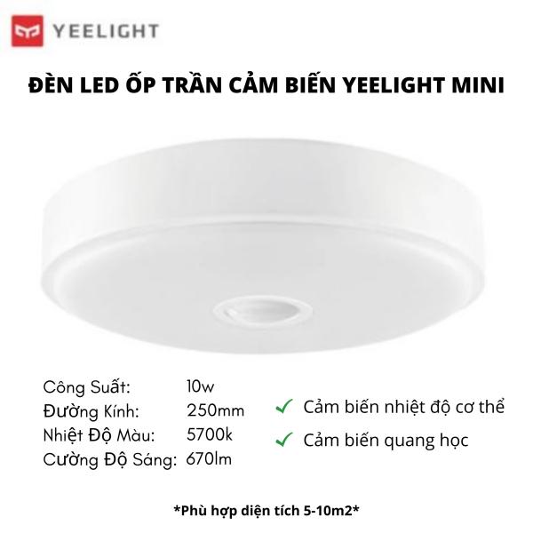 Bảng giá Đèn Led Ốp Trần Cảm Biến Chuyển Động Mini Xiaomi Yeelight 250mm - Bản Quốc Tế Nhập Khẩu Chính Hãng