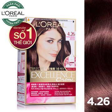Thuốc nhuộm tóc LOreal Excellence Creme 4.26 nâu tím ánh đỏ 172ml tốt nhất