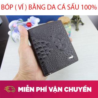 ( SALE 50% ) Bóp ( VÍ ) Da Cho Nam - Bóp da cá sấu Thành Vinh - Ví Da Cá Sấu Cao Cấp Ghé Mua Tại Cửa Hàng Uy Tín , Mẫu Mã Đa Dạng, Chất Lượng, Sang Trọng thumbnail