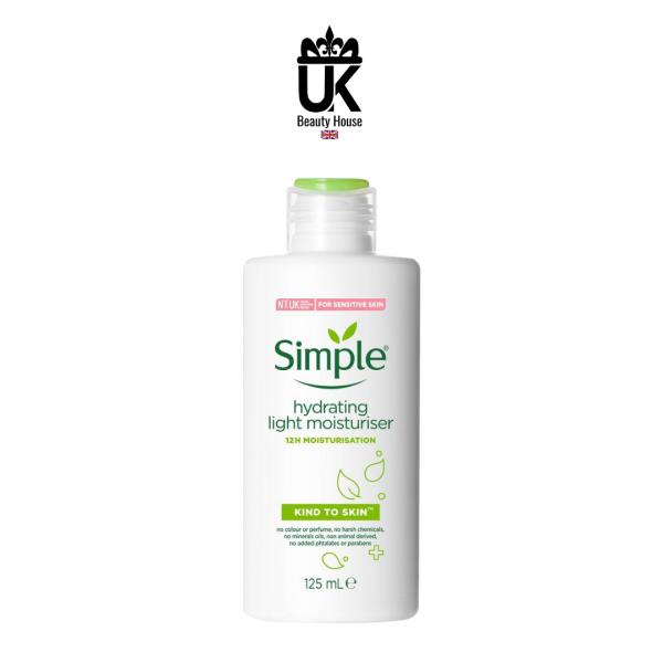 Sữa Dưỡng Da Simple Kind To Skin Hydrating Light Moisturiser 125Ml nhập khẩu