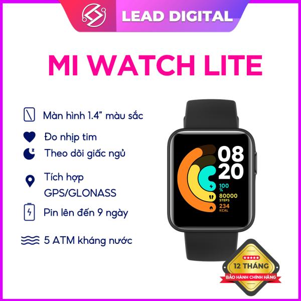 Đồng hồ thông minh Xiaomi Mi Watch Lite - Màn hình 1.4  Hỗ trợ GPS  Chống nước 5ATM  Hỗ trợ 11 bài tập thể thao  Pin 230 mAh  Thời gian sử dụng đến 9 ngày - Bảo hành chính hãng 12 tháng