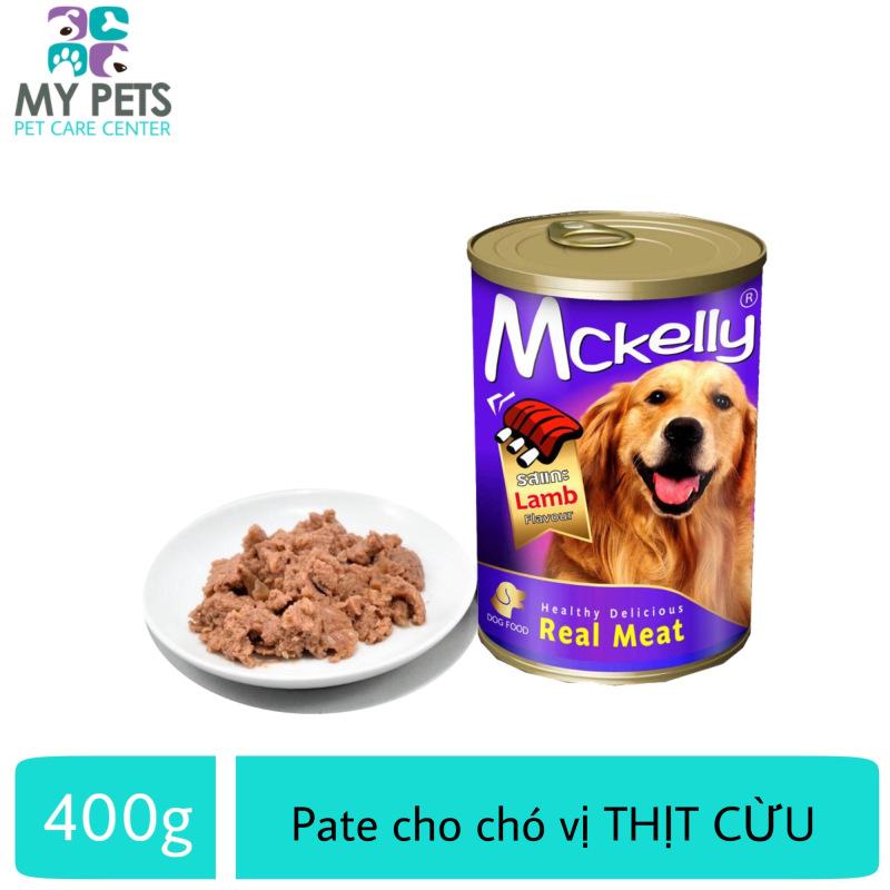 Thức Ăn Pate Mckelly Cao Cấp Hương Vị Thịt Cừu Dành Cho Chó Lớn - Lon 400g