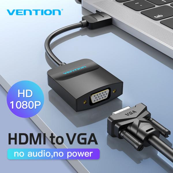 Bảng giá Vention bộ chuyển đổi HDMI sang VGA 1080P Digital to Analog For Laptop Xbox PS4 TV Projector Video Audio Cable VGA to HDMI Adapter Phong Vũ