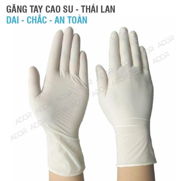 [HCM]Găng tay y tế có bột màu trắng hộp 100 cái