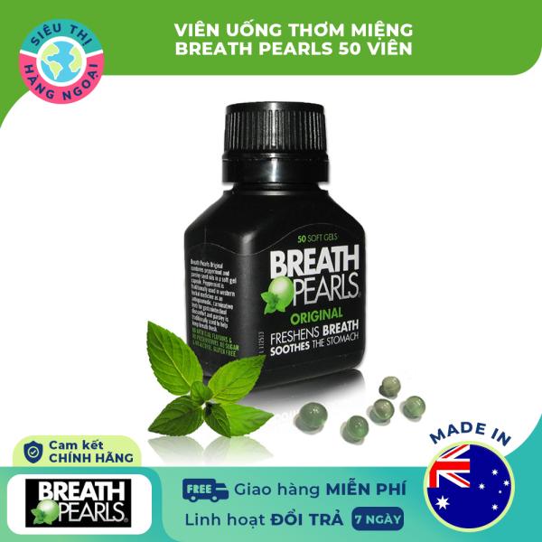 Viên uống thơm miệng Breath pearls 50 viên [Hỗ trợ hơi thở thơm mát- Thơm lâu cả ngày] Hàng Úc (được bán bởi Siêu Thị Hàng Ngoại)