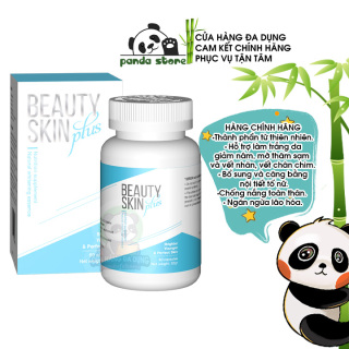 Viên uống trắng da chống nắng Beauty Skin Plus USA bổ sung Glutathione giúp đẹp da giảm nám làm mờ thâm sạm nếp nhăn hỗ trợ tăng cường nội tiết tố. Hộp 60 viên thumbnail