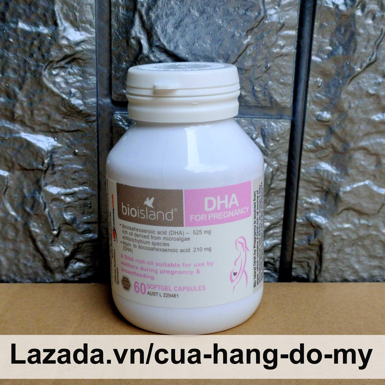 Viên uống  Bioisland DHA for Pregnancy cho bà bầu 60 viên - Bổ sung DHA mẹ khỏe , con thông minh cao cấp