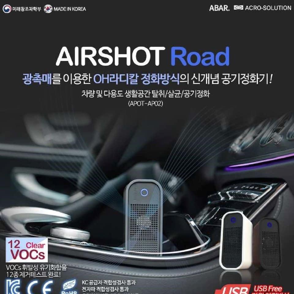 [Bảo Hành 6 Tháng] Máy Lọc Không Khí AIRSHOT ROAD Chính Hãng