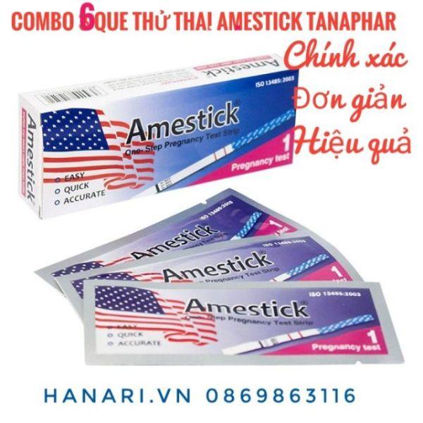 [ Che tên sản phẩm] Combo 6 Que thử thai Amestick Tanaphar