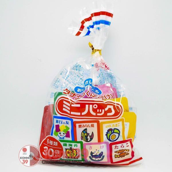 Gia Vị Rắc Cơm 6 Vị Nhật Bản ( 30 gói/ túi ), dùng rắc vào cơm, cháo, rau trộn, làm cơm cuộn, rắc cơm đủ vị khiến bé thay đổi vị không gây nhàm chán