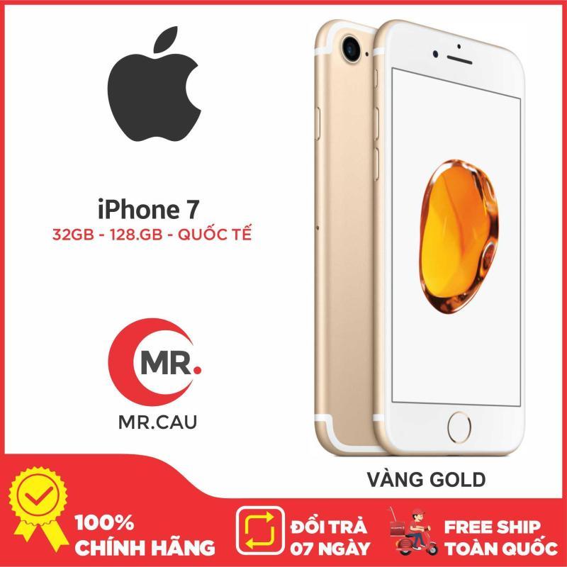 Điện thoại Apple iPhone 7 - 32GB -128 G Bản Quốc Tế, IOS 12 Apple A10 Fusion 4 nhân 64-bit , RAM 2 GB Hàng Nhập Khẩu FULL BOX LIKE NEW 99%  phù hợp cho giới trẻ, doanh nhân, Tặng kèm Full phụ kiện Bảo hành 6 Tháng MR CAU