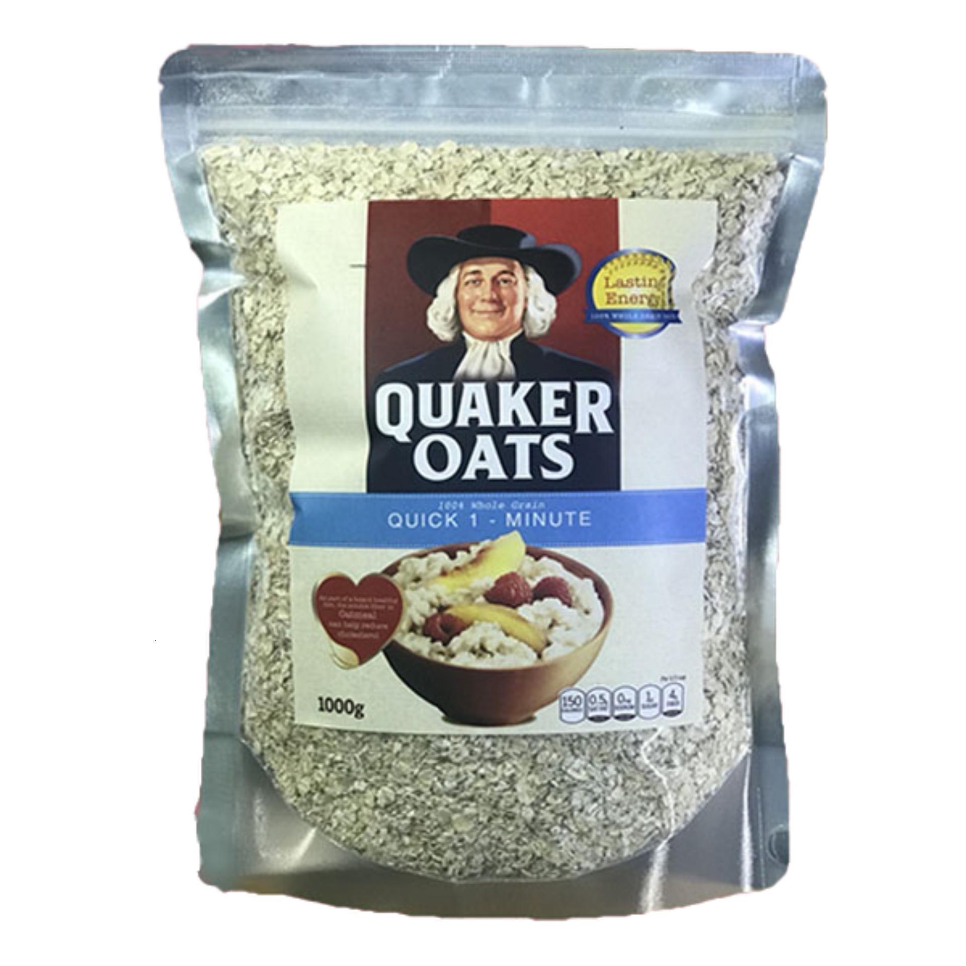 Yến Mạch Quaker Oats Quick 1 Minute 100% USA 1Kg Giảm Cân Tăng Cơ Giảm Mỡ Bảo Vệ Sức Khỏe (Chính Hãng) Đang Trong Dịp Khuyến Mãi