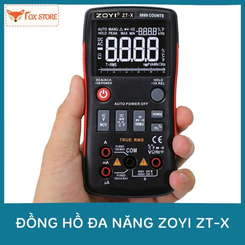 Đồng hồ đo điện tự động đa năng ZOYI ZT-X (True RMS / DC/AC Voltage & NVC Test / 9999 Count)