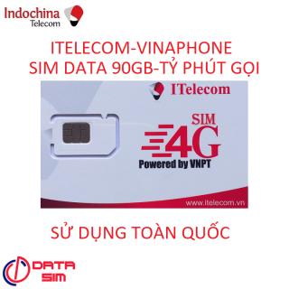 SIM ITELECOM VINAPHONE NỘI MẠNG MIỄN PHÍ 90GB 30 PHÚT GỌI NGOẠI MẠNG 0Đ TẶNG QUE CHỌC SIM thumbnail