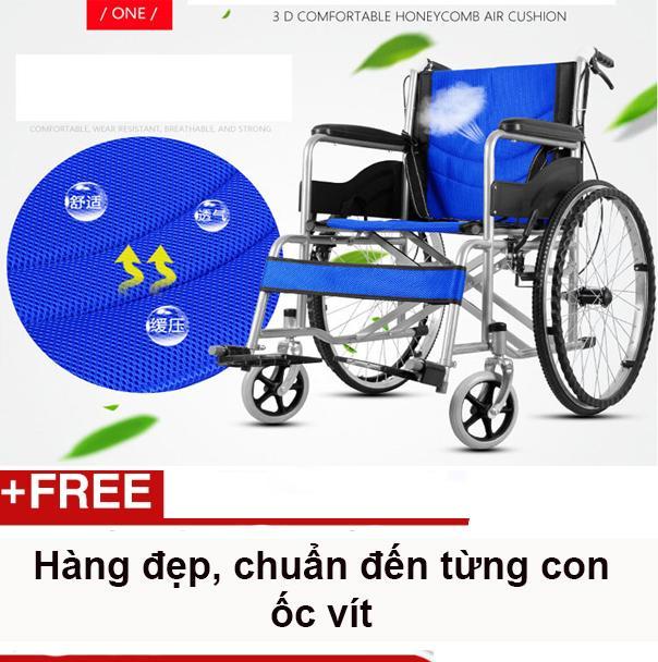 Xe lăn thông thường không có bô vệ sinh gọn nhẹ