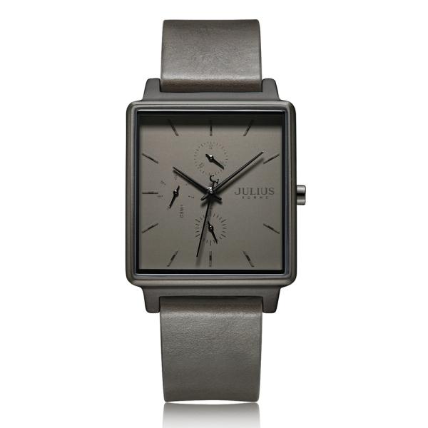 Đồng hồ nam Julius JAH-129 dây da mặt hình chữ nhật cá tính