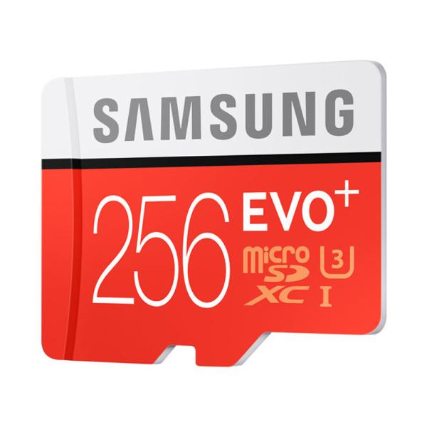 [HCM][Xả H&agraveng Kho]  Thẻ nhớ Thẻ nhớ MicroSDXC Samsung Plus 256GB U3 4K R100MB/s W90 MB/s - Box Anh New 2020 (Đỏ) - Model Evo Plus