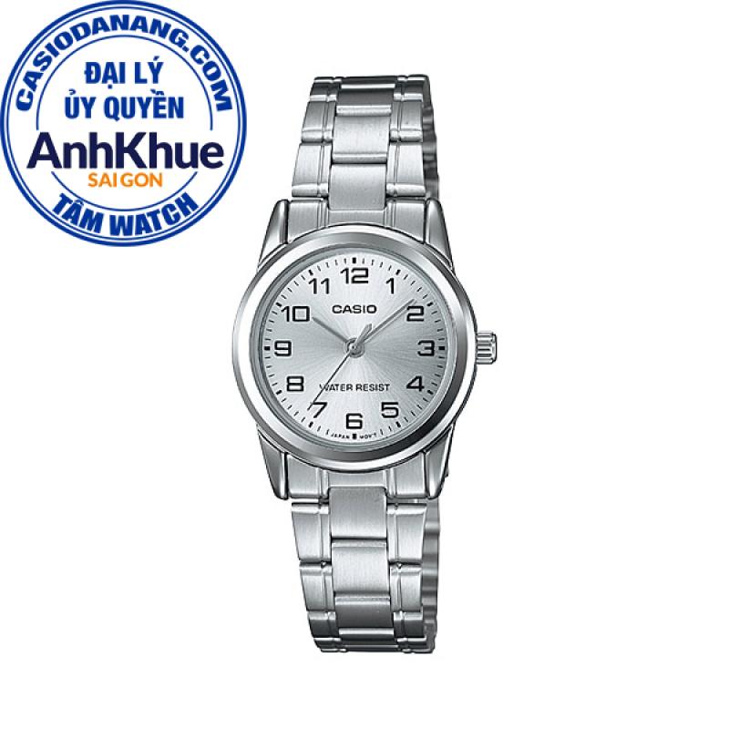 Đồng hồ nữ dây kim loại Casio Standard chính hãng Anh Khuê LTP-V001D-7BUDF (25mm)