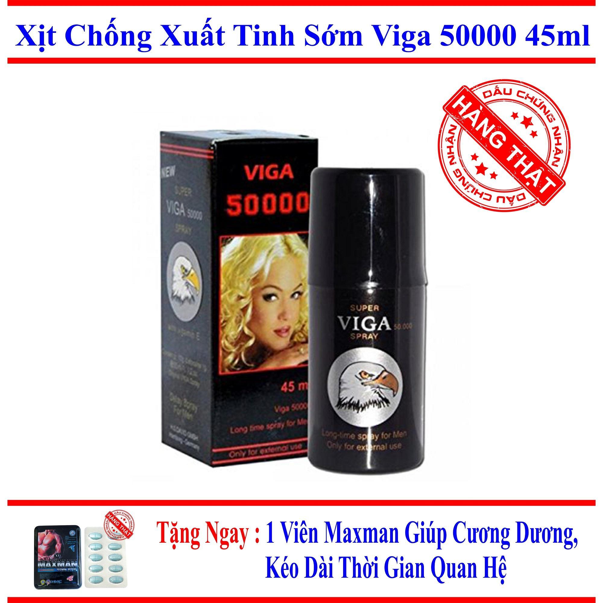 Chai xịt tăng cường_sinh lý nam, kéo dài thời gian, chống, trị xuất tinh sớm_VIGA_50000 (45ml)