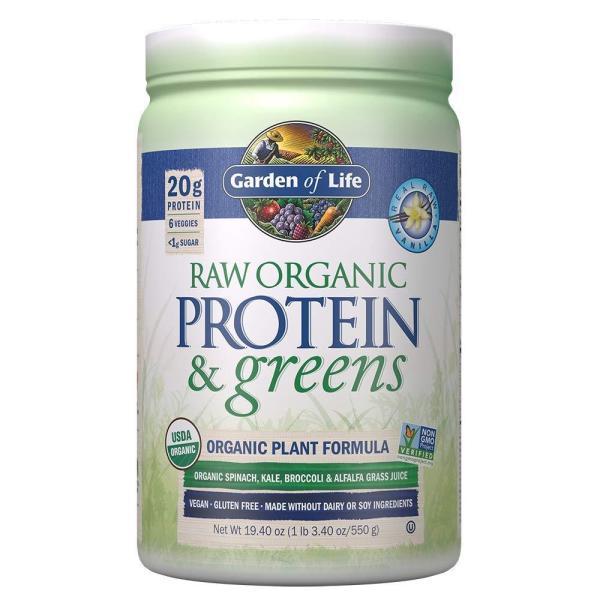 Bột đạm thực vật hữu cơ Garden of Life protein greens 550g.