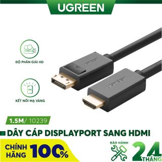 [Nhập ELMAY21 giảm thêm 10% đơn từ 99k] Dây cáp DisplayPort 1.2 sang HDMI hỗ trợ Full HD lên đến 1080P, dài 1-5M UGREEN DP101 - Hãng phân phối chính thức thumbnail