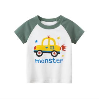 [ VIDEO] A131 Áo thun bé trai 27KIDS chất liệu 100% cotton in hình CAR MONSTER GR 2020 cho bé từ 10-33kg (2 tuổi -10 tuổi) an toàn mềm mịn thích hợp cho bé đi học đi chơi thumbnail