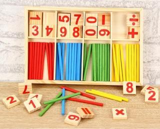(QUÀ TẶNG CHO BÉ YÊU) Bảng Tính Intelligence Stick cho bé - Bảng Tính Và Que Tính Số Thông Minh Cho Bé thumbnail