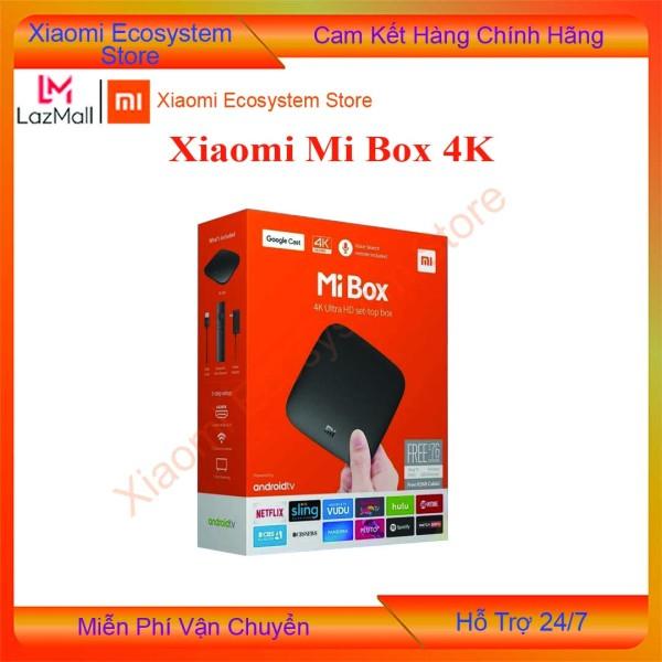 [BẢN Q TẾ] Xiaomi Mi Box 4K Global   đầu Android TV Box   tivi box, mibox   tv box xiaomi, Xiaomi mibox    Hỗ trợ tìm kiếm bằng giọng nói, có kèm điều khiển Kết nối Wifi  Bluetooth 4.2   XIAOMI ECOSYSTEM STORE