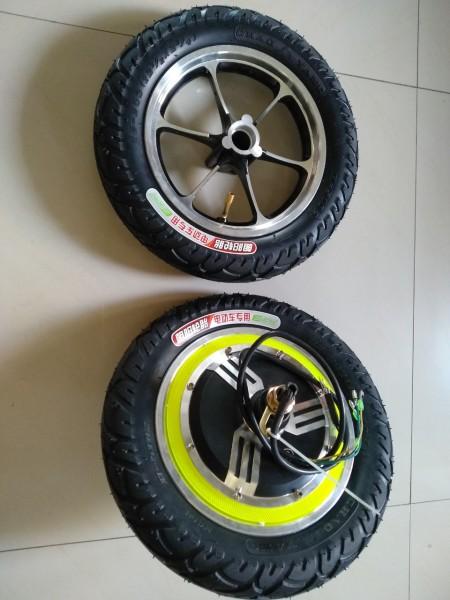 Mua BÁNH TRƯỚC+ ĐỘNG CƠ BÁNH SAU bánh xe 12inch, đường kính bánh 30cm chế xe scooter điện, xe lăn điện.....