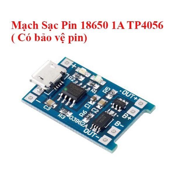 Bảng giá Mạch sạc 1s pin Lithium - Li-Ion - 18650 Tp4056 có bảo vệ pin cổng Micro USB