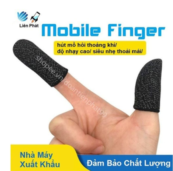Bộ 2 ngón tay chuyên dụng chơi game mobile chống ra mồ hôi tay Mobile Finger 2020 Bao Tay Siêu Nhạy Giá Xưởng