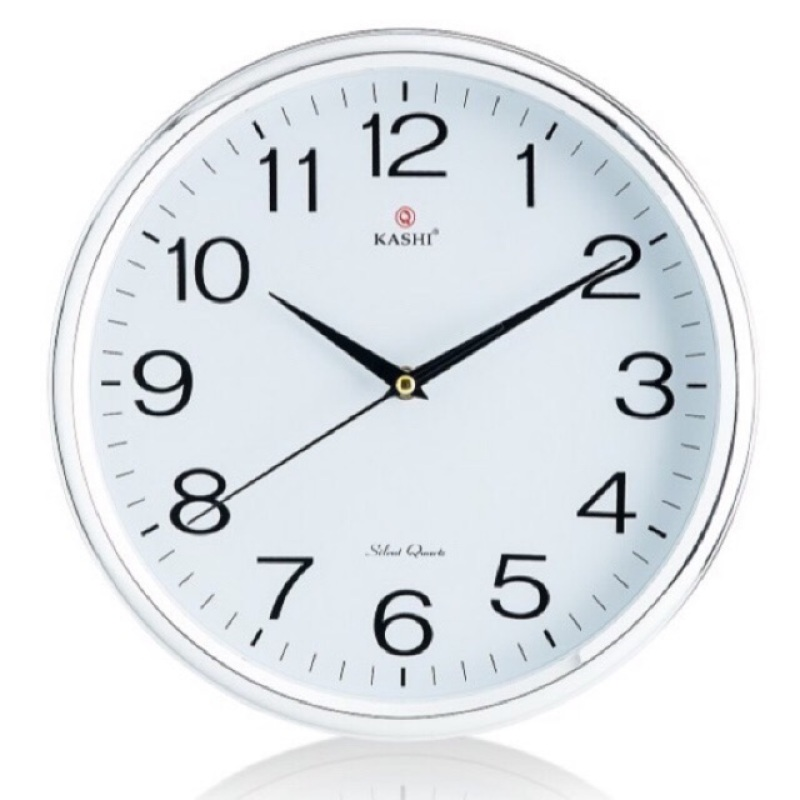 Nơi bán [Thu thập mã giảm thêm 30%] Đồng hồ treo tường Kashi k78 viền bạc sang trọng tặng kèm pin Panasonic cam kết hàng đúng mô tả chất lượng đảm bảo an toàn đến sức khỏe người sử dụng