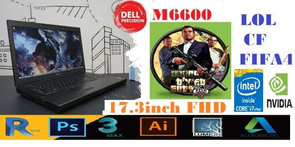 Bảng giá DELL Precision M6600 Core i7 2720QM RAM 16G SSD 180G HDD 1TB VGA Quadro 3000M 17.3in Full HD - Máy trạm chuyên đồ hoạ dựng phim video GAME Phong Vũ