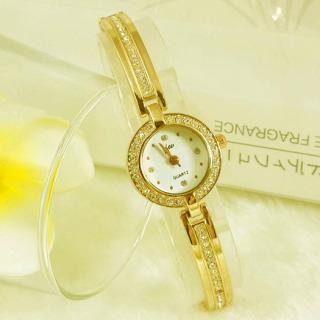 Đồng hồ nam nữ cao cấp JW dây lắc tay mạ vàng kết hợp đá đính JW28 (có hộp) thumbnail