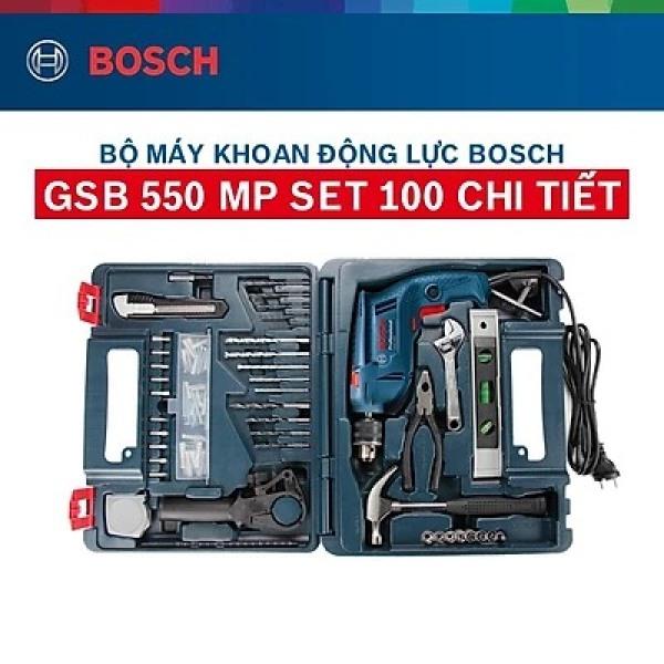 Máy khoan GSB 550 set 100 món