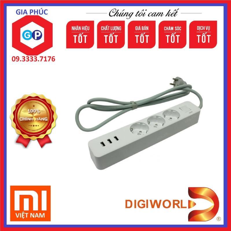 Ổ cắm điện Xiaomi Mi Power Strip 3 USB và 3 Outlet - Hàng DiGiWorld