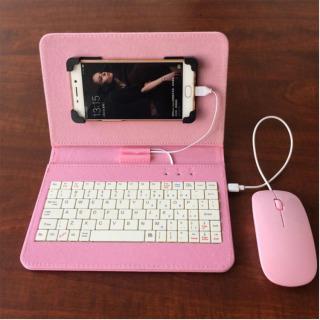 (Có video quay thật) bao da bàn phím kèm chuột cho điện thoại, máy tính bảng từ 4.-8 inch Android, thiết kế sang trọng và công nghệ hiện đại thumbnail
