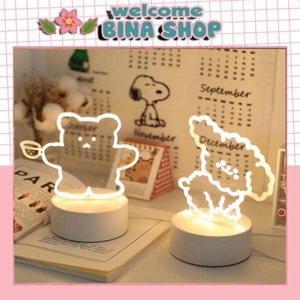 Bảng giá Đèn trang trí phòng ngủ để bàn hình gấu cute phong cách dễ thương và xinh xắn