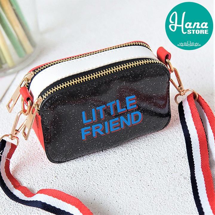 Giá bán Túi đeo chéo cho bé gái đính kim tuyến LITTLE FRIEND - có 7 màu khác nhau rất dễ thương