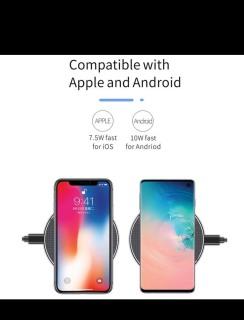Đế Sạc Không Dây GY68 Thông Minh Cảm Ứng Siêu Mỏng Siêu Nhẹ Wireless Charger Sạc Nhanh Qi - Sạc Có Đèn Led Chất Liệu Hợp Kim Cao Cấp - Dùng cho apple + android thumbnail