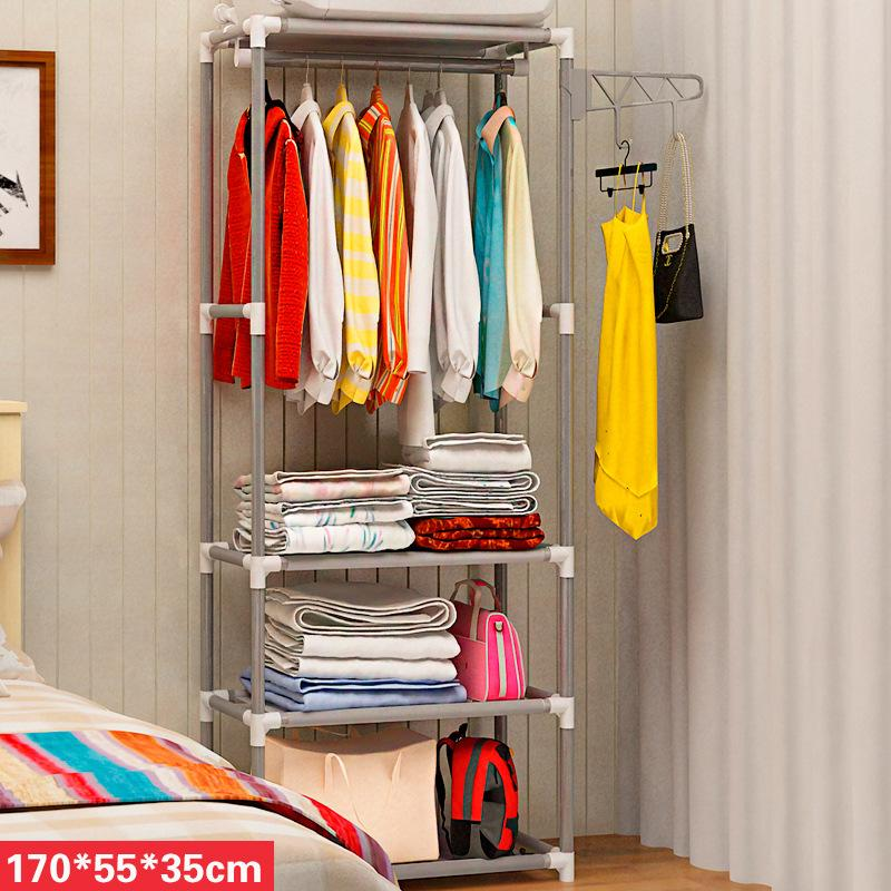 ZX-Simple Coat Rack Floor Hangers Creative Clothes Rack Bedroom Storage Shelf Foyer Storage Iron Art Sedurre Attrarre