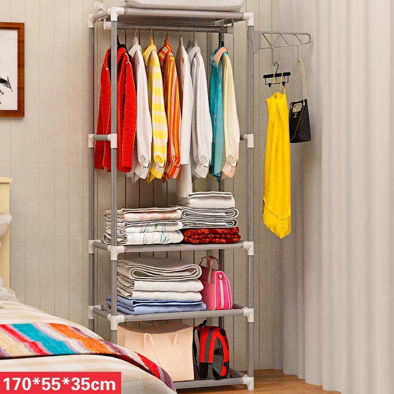 ZX-Simple Coat Rack Floor Hangers Creative Clothes Rack Bedroom Storage Shelf Foyer Storage Iron Art Sedurre Attrarre