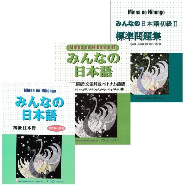 Sách - Combo Minna No Nihongo Sơ Cấp 2 - Dành Cho Trình Độ N4 ( Bộ 3 Cuốn Cơ Bản )