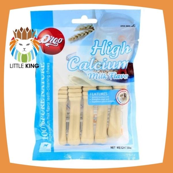 Xương gặm Orgo 90gr hương vị sữa giúp sạch răng, thơm miệng và bổ xung canxi - Little King pet shop