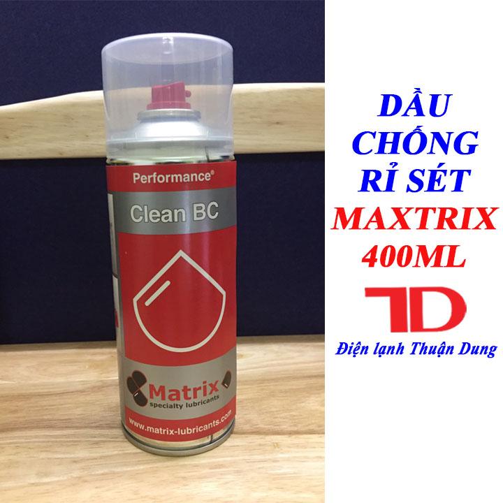 Chai xịt chống rỉ sét MAXTRIX Anti Rust 400ML, Dầu chống gỉ MAXTRIX PERFORMANCE WD
